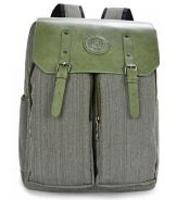 Retro Box Shape Flip Multi-use Backpack Bag Green
