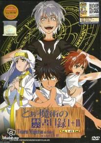 DVD ANIME TOARU MAJUTSU NO INDEX Season 1 2