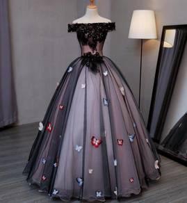 Butterfly Wedding Bridal Ball Prom Dress RB0503