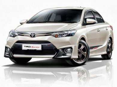 Toyota vios 2013 trd bodykit with spoiler n paint