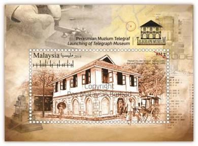 Miniature Sheet Telegraph Museum Malaysia 2018