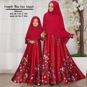 Angg mom kid dress long sleeve Muslimah set