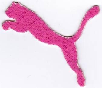 PUMA PINK Emblem Logo Badge Iron On Badge Patch