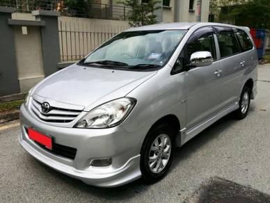 Toyota innova oem bodykit with spoiler paint 2008