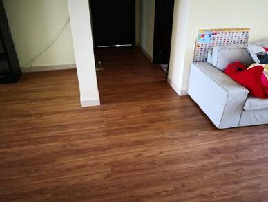 Vinyl Floor Lantai Timber Laminate PVC Floor Q588