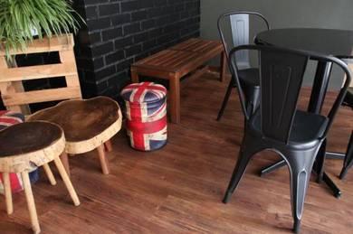 Vinyl Floor Lantai Timber Laminate PVC Floor Q571