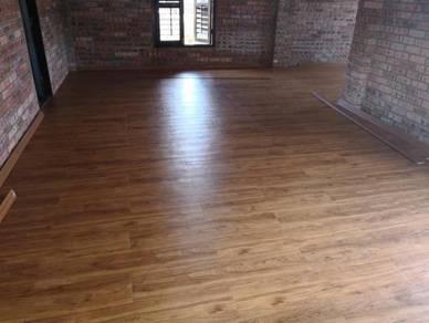 Vinyl Floor Lantai Timber Laminate PVC Floor Q575