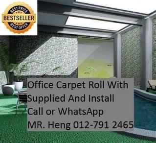 Modern Plain Design Carpet Roll With Install 82K