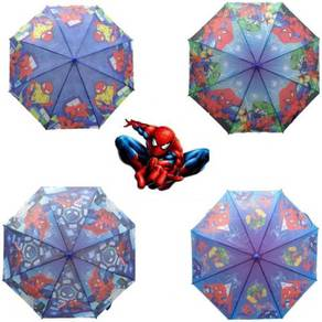 Kids Cartoon Long Payung Umbrella SPIDERMAN