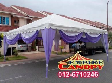 Canvas canopy - jenis piramid - saiz 20x20
