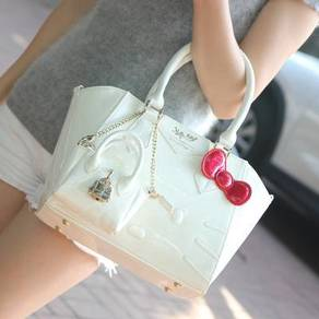 Hello Kitty white pink purple blue red handbag bag