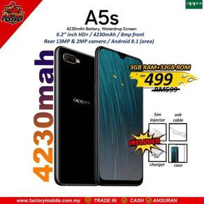 NEW Oppo a5s 3+32gb malaysia set