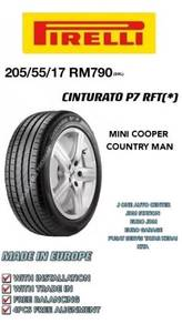Pirelli 205 55 17 cinturato p7 rft mini countryman