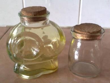 Botol vintage glass decor bottle