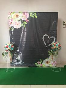 Backdrop photobooth/pelamin