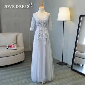 Long sleeve wedding prom dress gown RBP0734