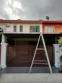 Pretty Reno 2 storey House Taman Kota Masai Plentong Full Loan