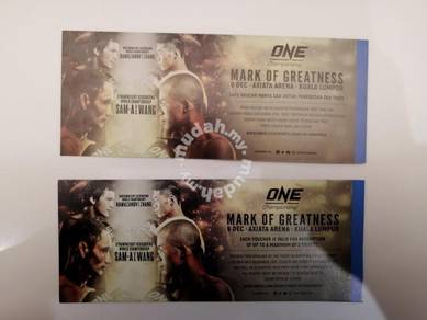 One Championship Voucher (front row seat)