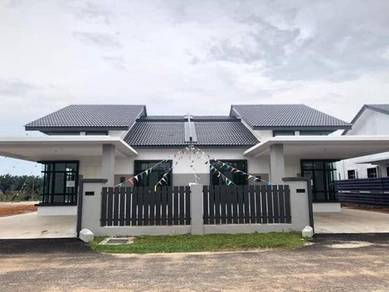 FREEHOLD Guarded Single Storey Semi D Fully Extend Big Room Ayer Keroh