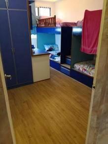 Vinyl Floor Lantai Timber Laminate PVC Floor Q573