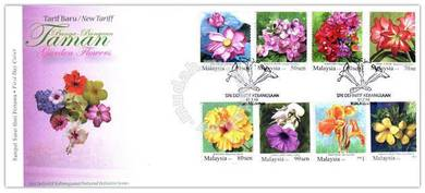 First Day Cover Garden Flowers Malaysia 2010