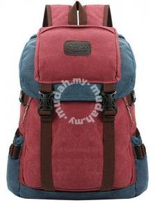 KING-GREAT Retro Men Backpack Travel Bag (Red)