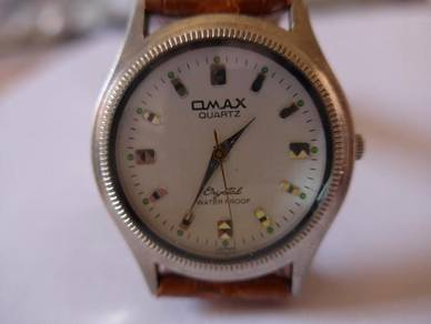 Omax Round White Dial Watch