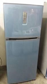 Blue Fridge Freeze Refrigerator Toshiba Peti Sejuk