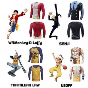 One piece Luffy sanji Law usopp sportwear Shirt