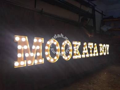 Signboard lightboard papan iklan banner 3D signage