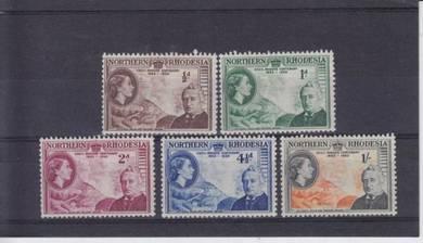Northern Rhodesia QEII 1953 SG 4/8 LMM BJ311