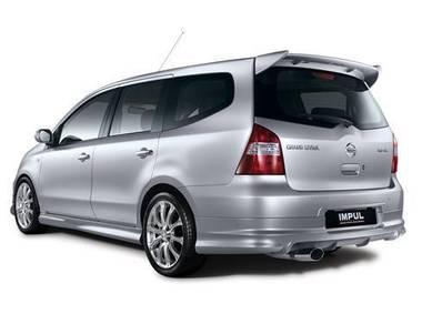 Nissan livina spoiler impul with paint bodykit