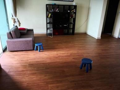 Vinyl Floor Lantai Timber Laminate PVC Floor Q597