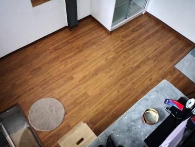 Vinyl Floor Lantai Timber Laminate PVC Floor Q616