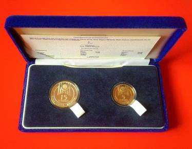Dy 1989 coin set 15th SEA Games 5 & 15 proof