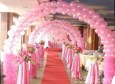 87) Aisle baloon for wedding deco