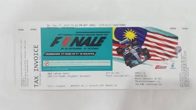 F1 TICKET Main GRANSTAND 30/9/17 - 1/10/17