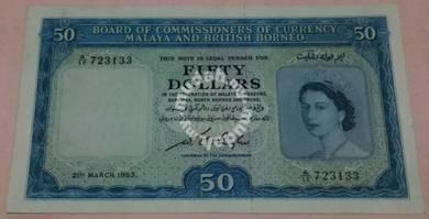 Malaya British Borneo 50 dollar, 1953