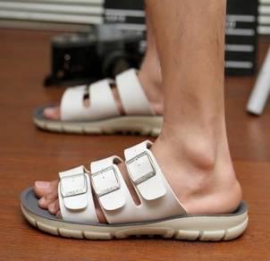 F0235 Korean White Sandal Buckle Kasut Murah Shoes