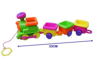 Pull train toy 35cm - colorful cute