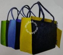 Felt Shopping Bag with small felt bag set
