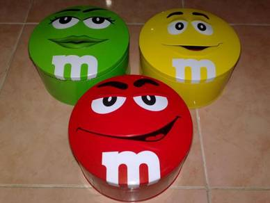 Kotak m&m's tin box 3