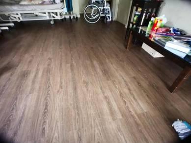 Vinyl Floor Lantai Timber Laminate PVC Floor Q615