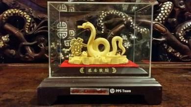 Big cobra snake 24k gold plated luxury gift SLG