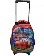 14in 6D Design Trolley Bag School bag - CARS
