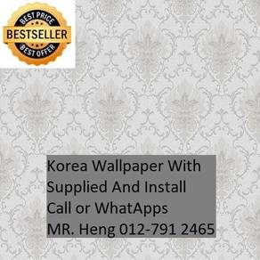 Pretty Wallcovering with Installation 096G