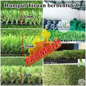 C35mm Natural Artificial Grass Rumput Tiruan 59
