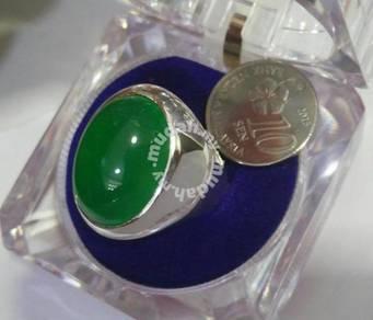 Cincin permata - Selected Apple Green Chalcedony