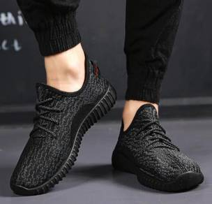 S0251 Simple Breathable Casual Sports Black Shoes