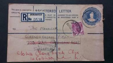 Antik Registered Letter JERANTUT 1956 No 1835